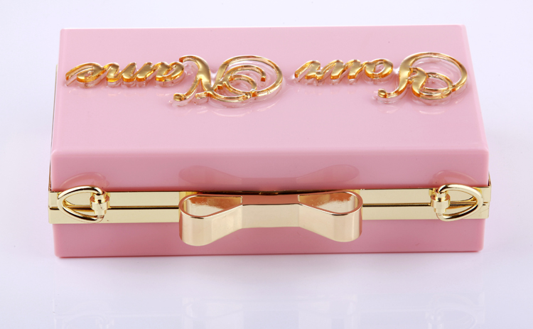 Wholesale personalize name clutches acrylic evening bag