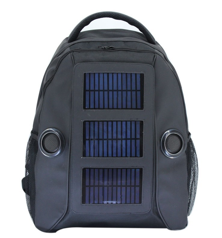 Urban Factory Solar Backpack for 14 inch Laptop with Solar Battery to Charge Phones Solar Laptop Charger Bag