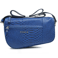 CSLRB221-0012016 fashion blue python pattern leather shoulder cross body bag