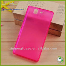 Wholesale cell phone clear tpu cover case for SONY L36H case cover for SONY