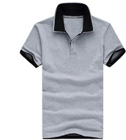 factory direct price bulk plain double collar polo shirt men