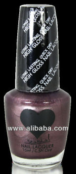 Scandal Heart Nail Polish # 66 Smoky Purple Scandal Cosmetics