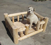 outdoor wooden pet products bed