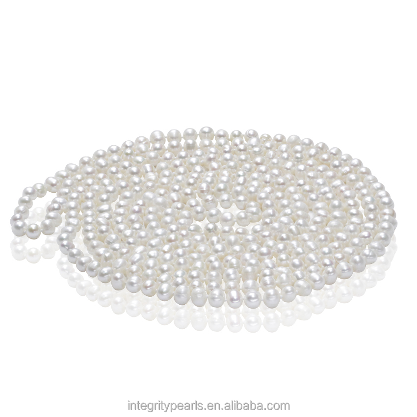7-8mm AA grade potato endless <strong>100</strong> inches ladys new design pearl necklace