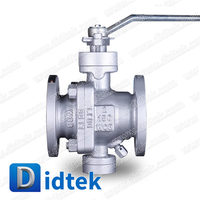 Didtek Lever Operated Cast Steel 2 inch 150 Class Soft Seal Trunnion Mounted Ball Valve