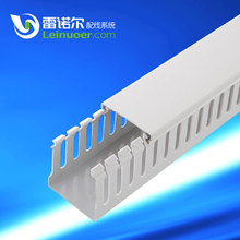 plastic PVC electric wire slotted duct