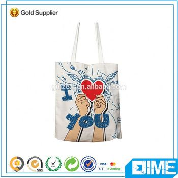 Personalized Wholesale Online Shopping Canvas Tote Bag With Zipper Tote Bag
