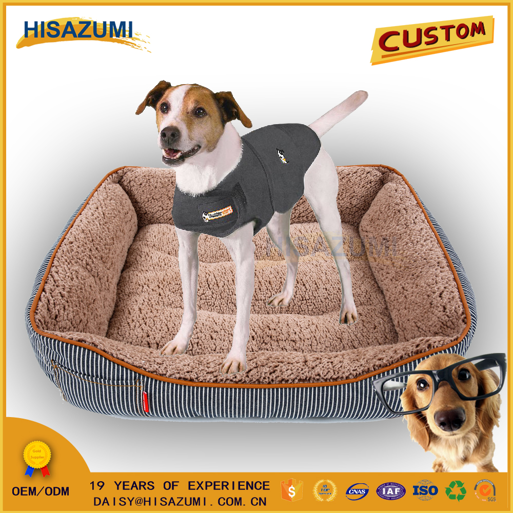 Hisazumi Denim square pet bed/luxury pet dog bed/pet accessory