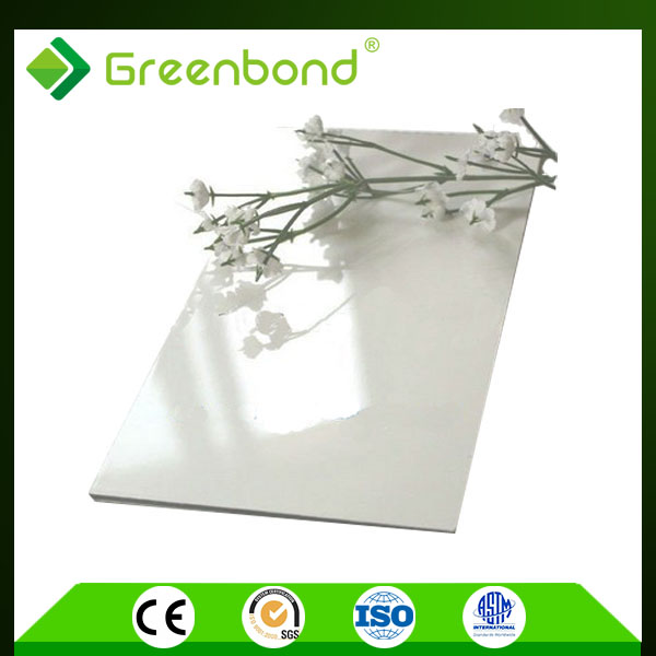 Greenbond high gloss white 2m width acp big size advertising panel