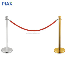 museum exhibition barrier stanchion pole of rope