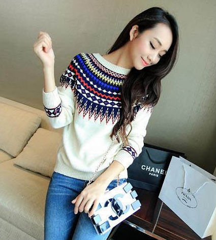Alibaba China long new knitwear autumn/winter ladies pullover woman fashion vintage sweater