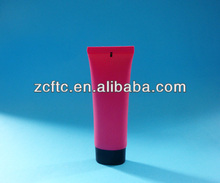 Red tube black cap BB cream packaging tube, flat empty eye cream tube container