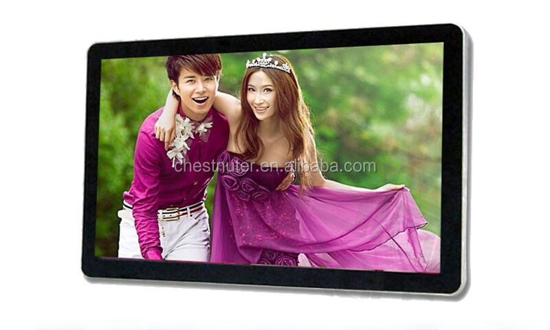 55 inch windows lcd tv kiosk wall mount digital advertising display
