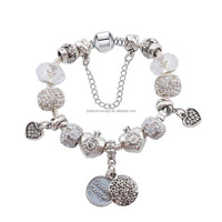 Fashion Bracelet European Charm Women High Quality Glass Beads Monther's Day Gift BR-151118-27