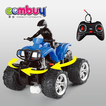 Hot sale new kind 4 channel remote control battery operated rc stunt motorcycle toys