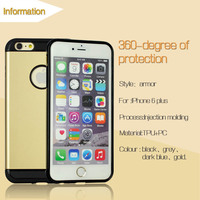 Phone accessories high quality waterproof slim 2 in 1 mobile phone case for iphone 6 6 plus