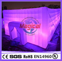 Cube LED inflatable display tent for promotional