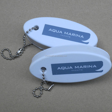 Customized oval shaped sponge key chain , floating key holder, boat floating keychains