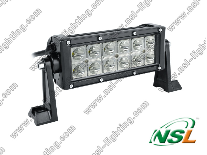 Hot sale36w offroad driving work lamp drive led light bar cree 12v led light bar ,7inch led light bar