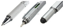 multifunction tech tool pen with gradienter,ruler,screw driver,Level Pen with screwdriver touch metal tool pen