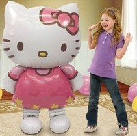 Large 116CM*68CM Hello Kitty Cat foil balloons cartoon wedding decoration inflatable air balloons birthday gift Classic toys