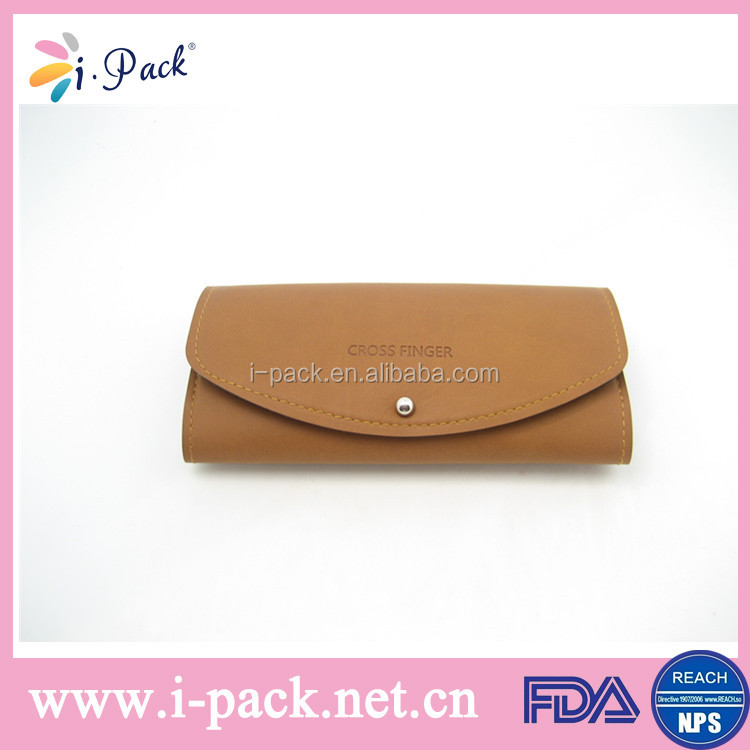 Luxury high quality leather classic soft sunglasses case