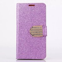 S3 Bright Glitter Card Holder Side Flip stand PU Leather Case For Samsung Galaxy S3 i9300 Phone Rhinestone Cover