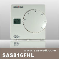 No programmable Big knob Mini LCD display radiant or electric floor heating room thermostat