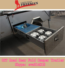 Rongcheng offroad sliding kitchen camper trailer