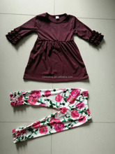 wholesale icing ruffle legging set baby floral dress outfit little girl boutique clothing