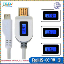 LCD Digital Indicator Micro USB Data Sync Charging Cable Current Voltage chargeTime Intelligent cable