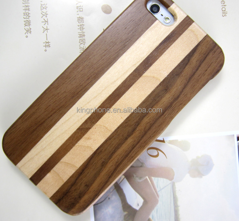 Fine arts and craft high quality splicing wooden case for iphone 5/5s