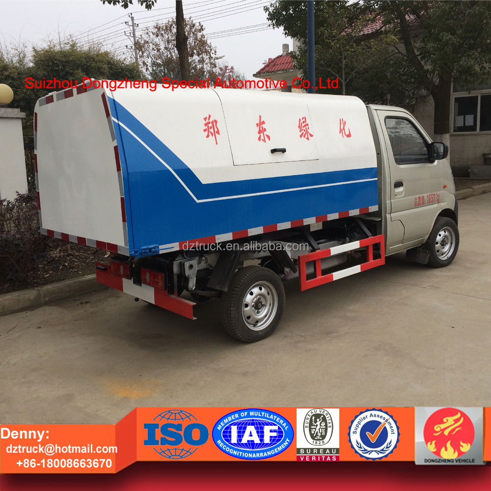 3cbm Changan mini garbage collection truck with sealed and dump function
