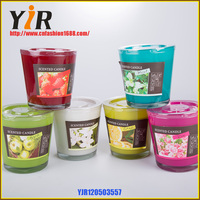 Wholesale making glass cup soy wax spice aroma candle
