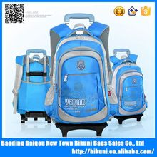 China wholesale OEM custom cheap wheel school bags children trolley backpack for kids
