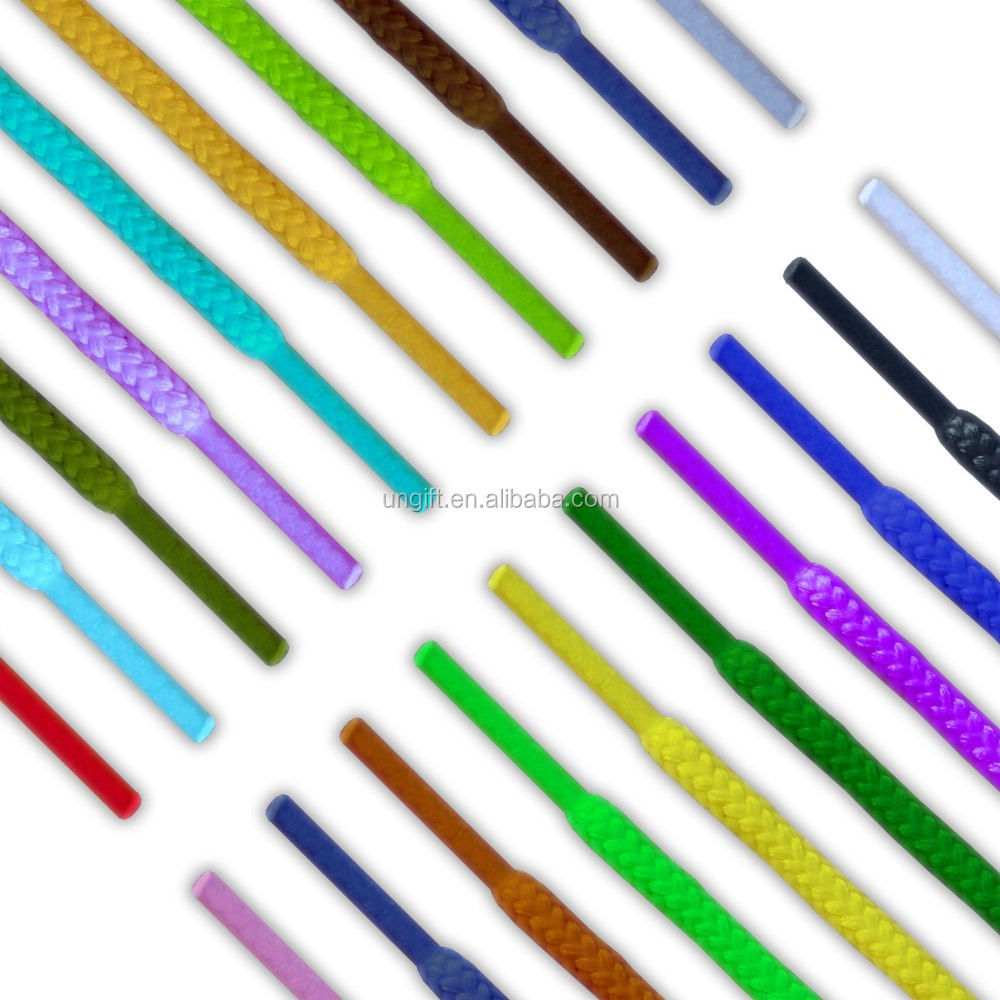 Round Coloured Shoe Laces 30+ Colours Shoelaces Football Boots Trainer Hiking