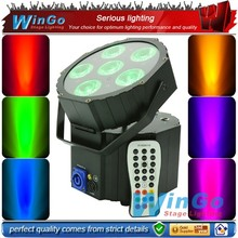 battery power wireless dmx 6*18w RGBWA+UV led professional dj wedding stage equipment