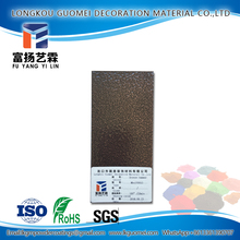 Anti yellowing bronze hammer Metal Ceiling dry powder coating
