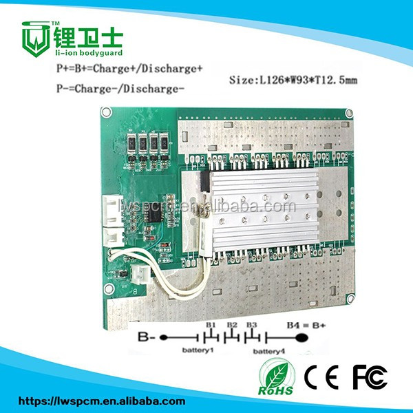 18650 battery pcm circuit board pcb/pcba bms 4s 12v 100a lifepo4 battery pack smart bms/custom 94vo lifepo4 circuit board