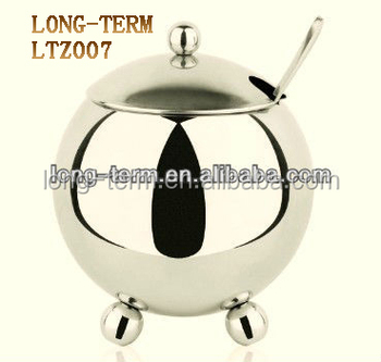 LTZ007 baby fat lovely design cruet with a little spoon