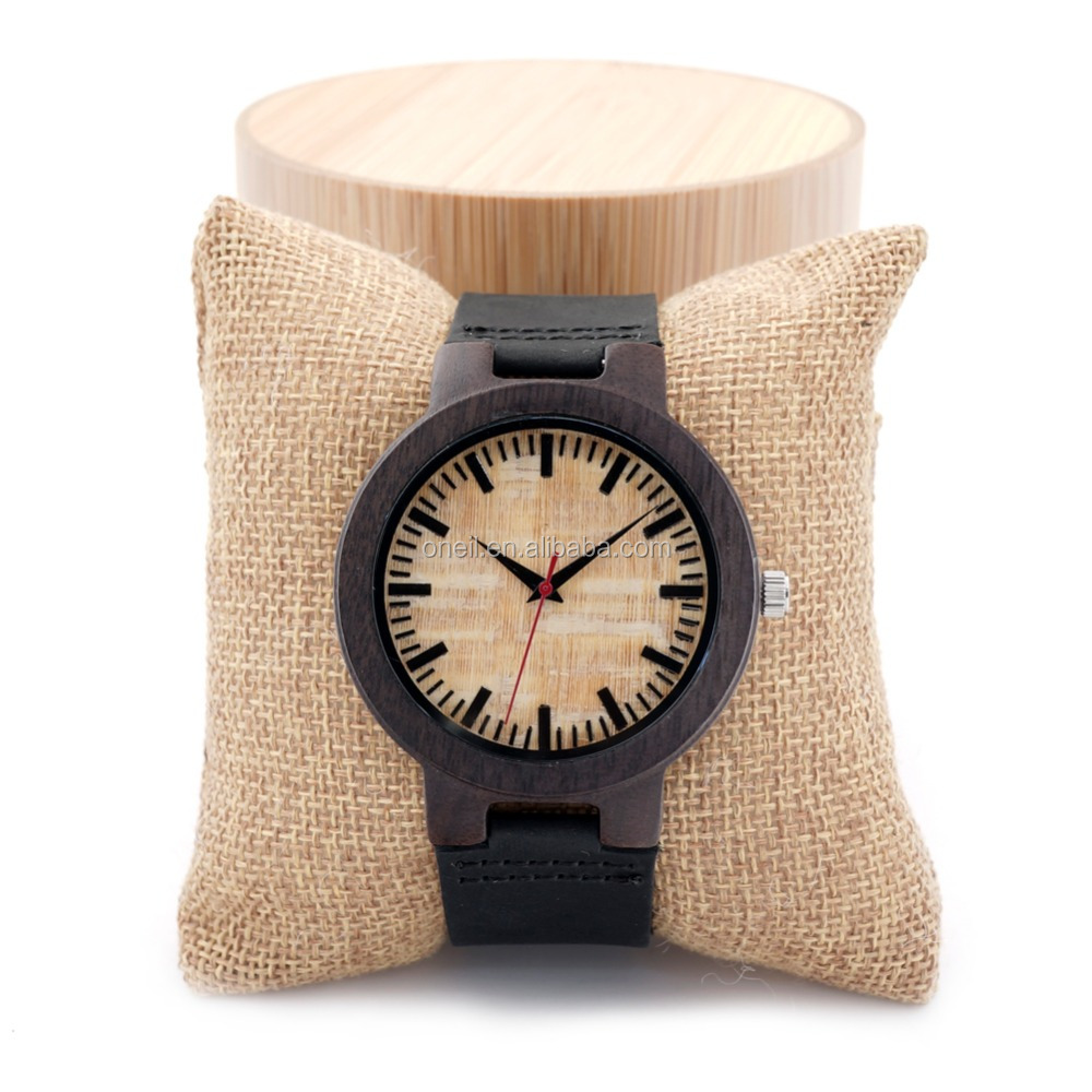 Newest Design Bamboo Watch Oneil Wristwatches In Shenzhen