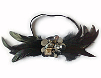 Fancy hair accessories guangzhou indian feather headbands