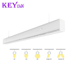 Trunking System link one by one without gap different lens 0-10v Dimming led linear light lens CE RoHS ETL