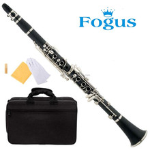 Focus Brand FCL-200 Black Hard Rubber Body B Flat Clarinet With 2PCS Barrels, Case, Mothpiece, Oil, Reeds And Accessories