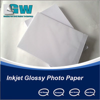 Super wholesale high waterproof 230gr glossy paper with inkjet printer white ink