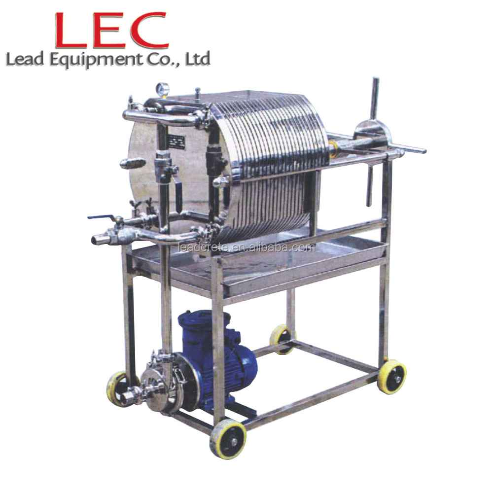 200 mm Multi-Layer stainless steel plate beer filter press