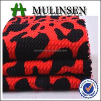 Hot Sale Mulinsen Textile Cheap Price Printed Polyester Knitting Double Sided Bubble Rice Jacquard Dot Fabric