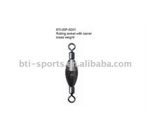 Carp fishing tackle--rolling swivel with barrel brass weight