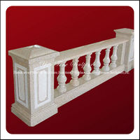 Carved Decorative Natural Limestone Baluster