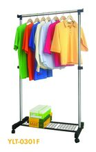 single-pole telescopic metal drawer the clothes rack